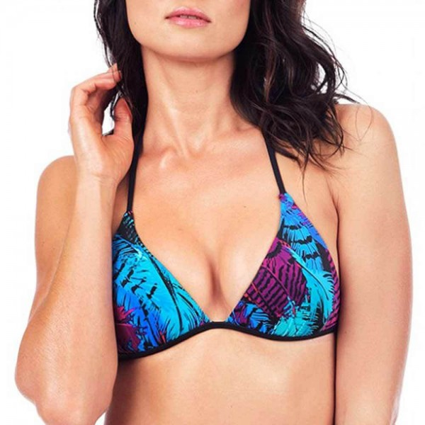 VODA SWIM Envy Push-up Bikini-Top - Print: Seychelles