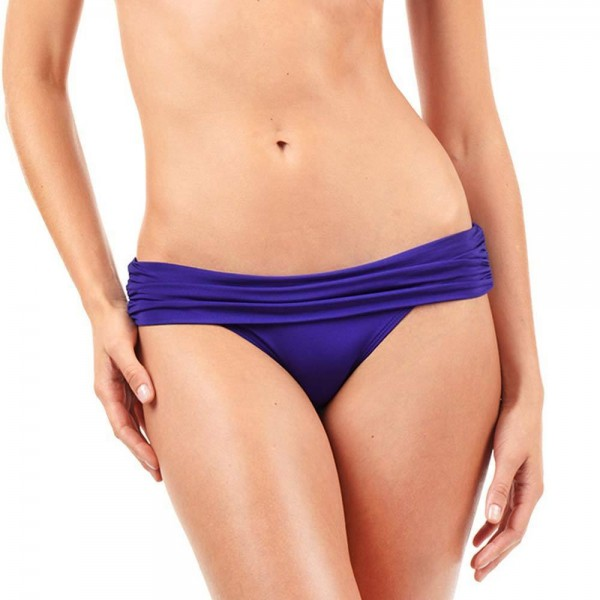 VODA SWIM Shirred Band Bikini-Hose - loganberry